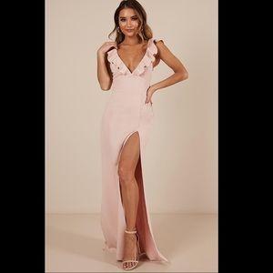 Showpo light pink maxi dress